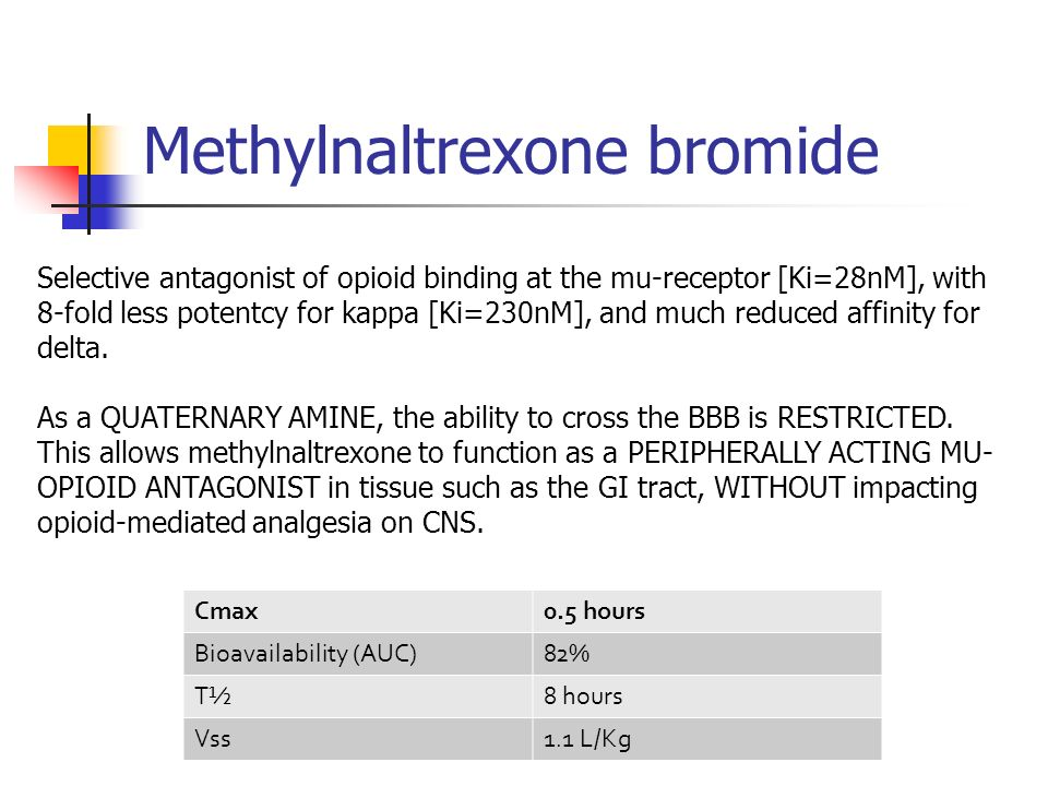 Methylnaltrexone bromide