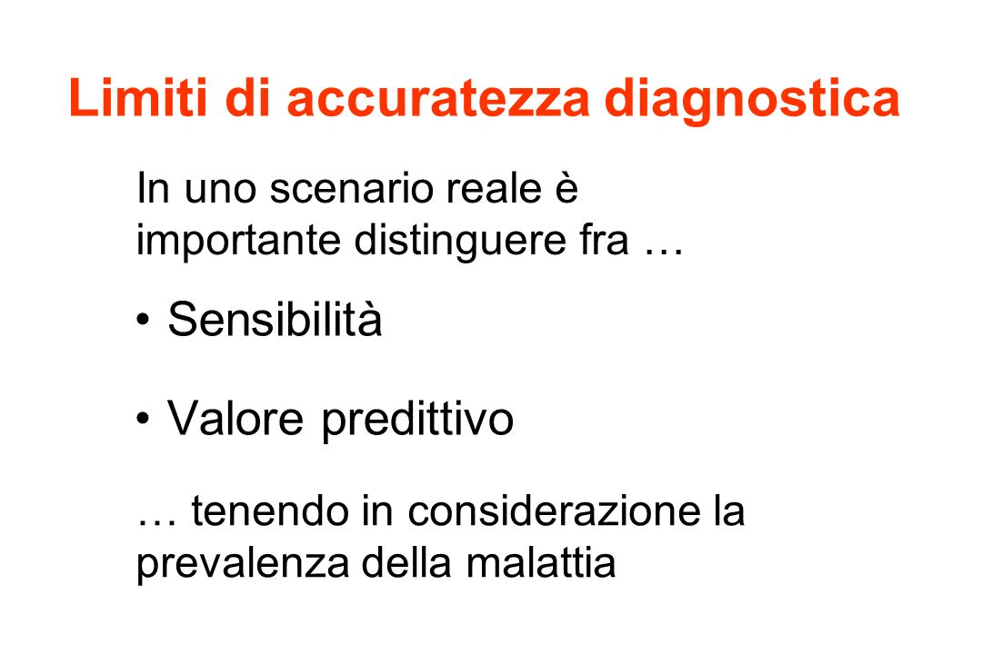 Limiti di accuratezza diagnostica