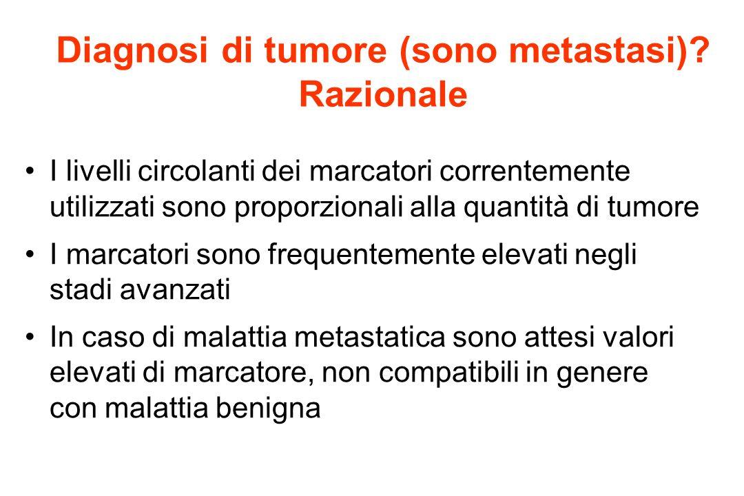 Diagnosi di tumore (sono metastasi) Razionale