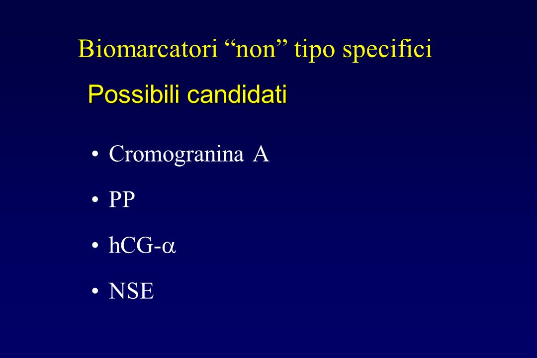 Biomarcatori non tipo specifici