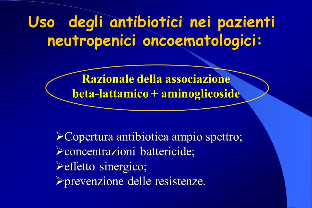 Uso degli antibiotici nei pazienti neutropenici oncoematologici: