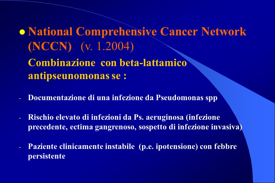 National Comprehensive Cancer Network (NCCN) (v. 1.2004)