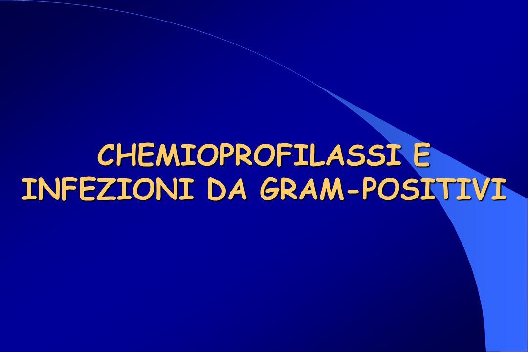 CHEMIOPROFILASSI E INFEZIONI DA GRAM-POSITIVI