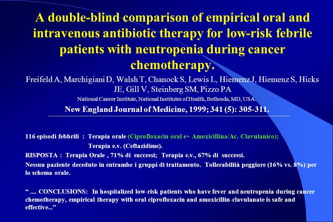 New England Journal of Medicine, 1999; 341 (5): 305-311.