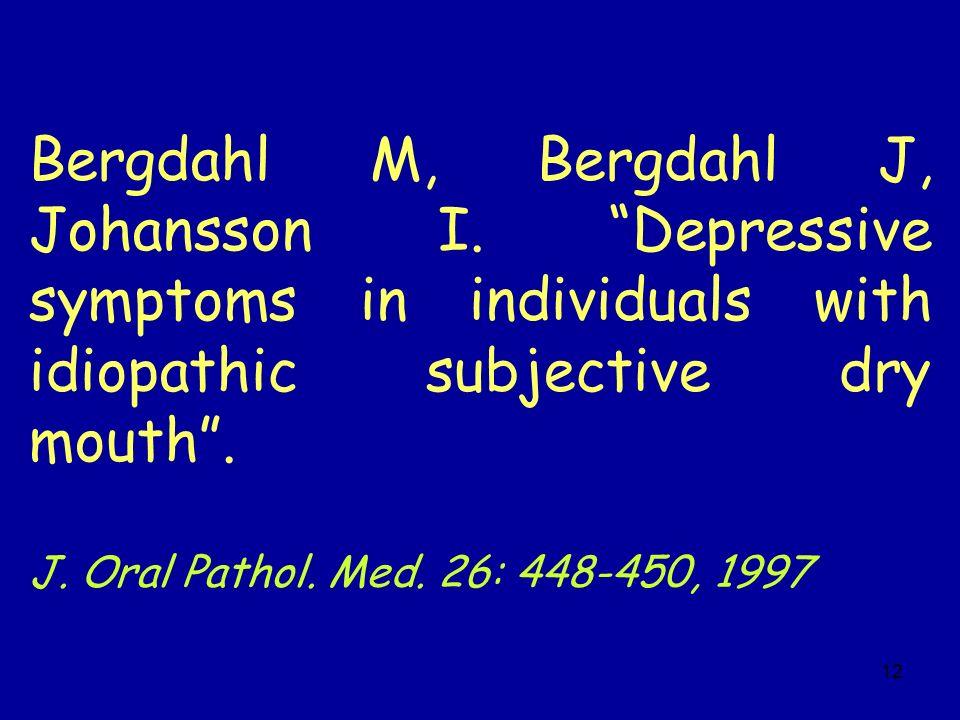 Bergdahl M, Bergdahl J, Johansson I