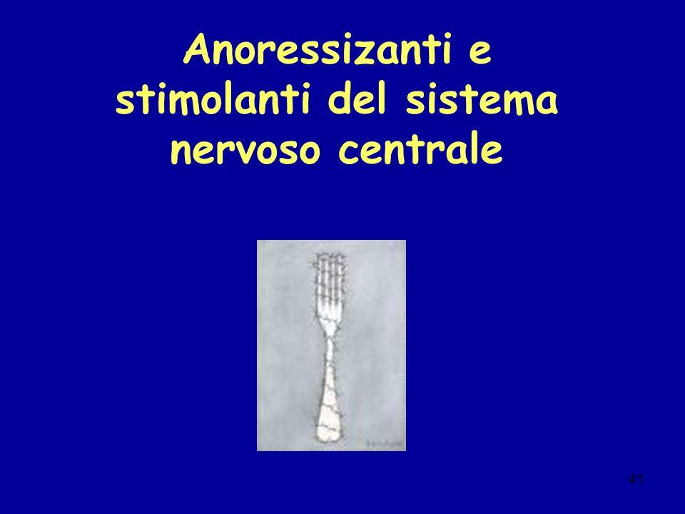 Anoressizanti e stimolanti del sistema nervoso centrale