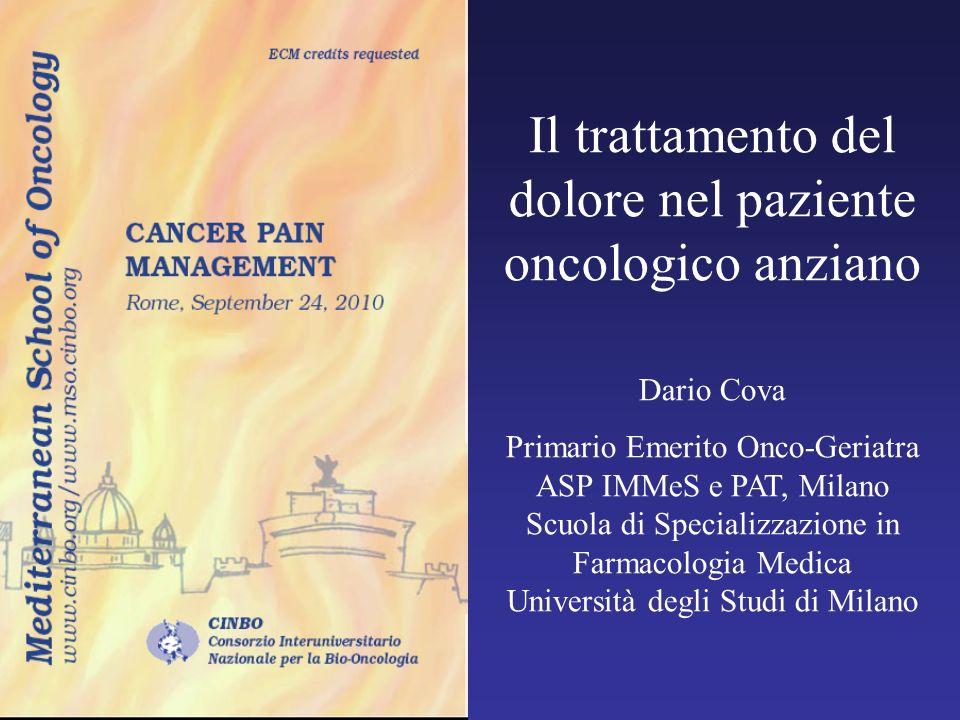 Il trattamento del dolore nel paziente oncologico anziano