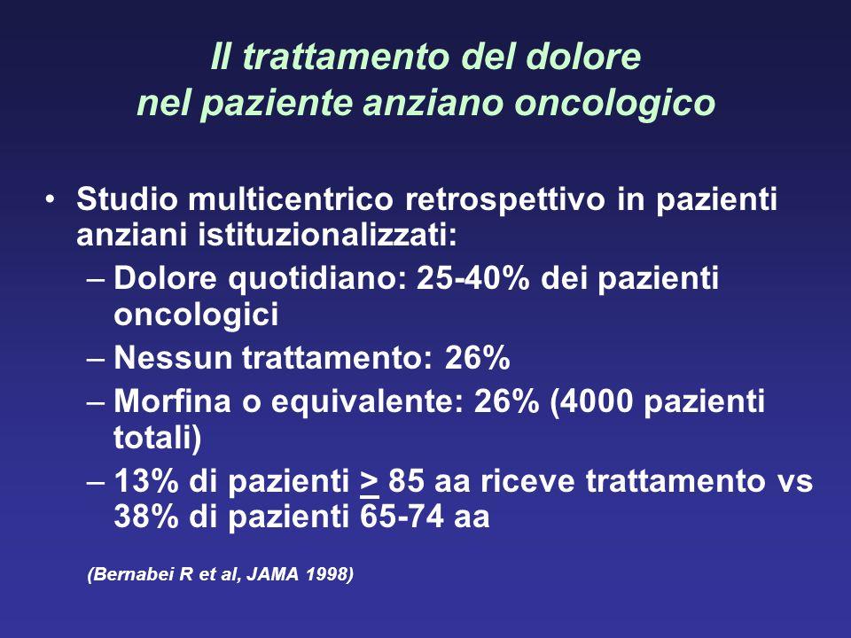 Il trattamento del dolore nel paziente anziano oncologico