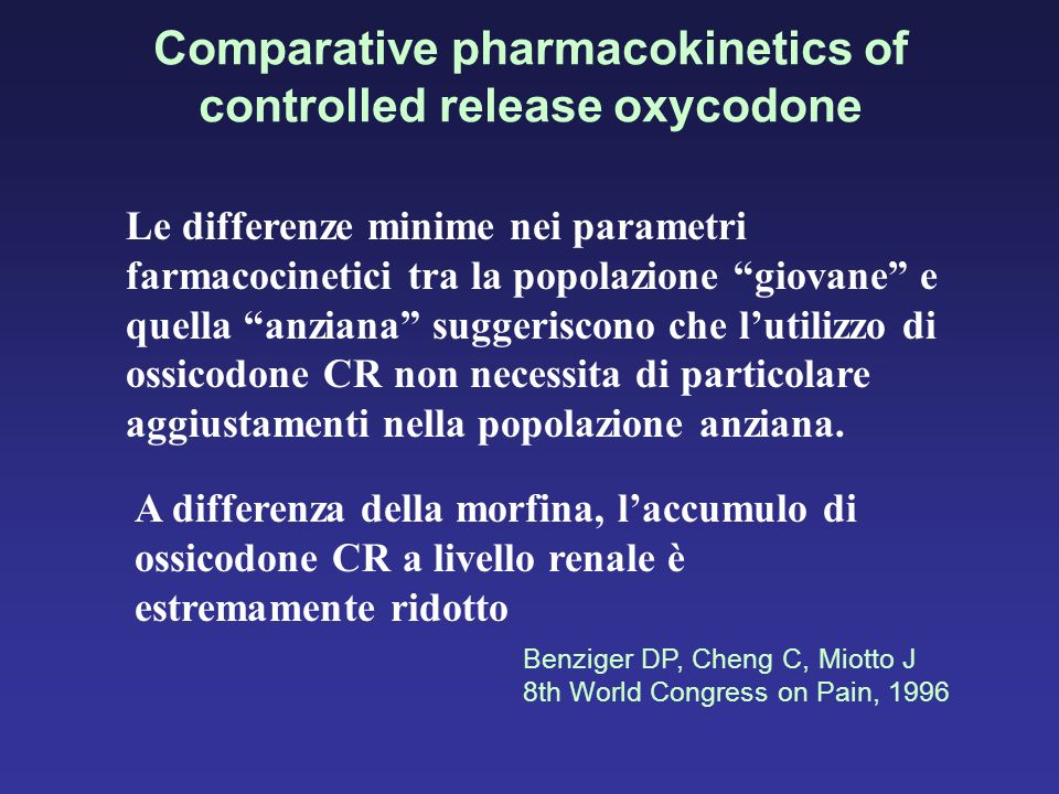Comparative pharmacokinetics of controlled release oxycodone