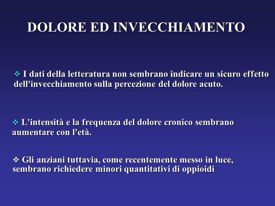 DOLORE ED INVECCHIAMENTO