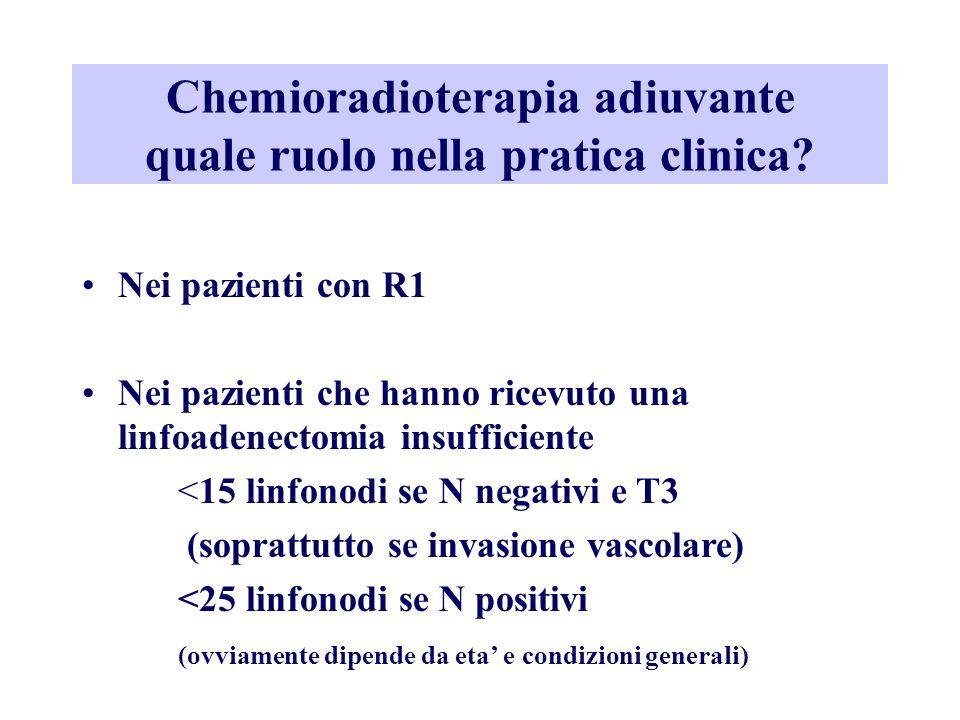 Chemioradioterapia adiuvante quale ruolo nella pratica clinica