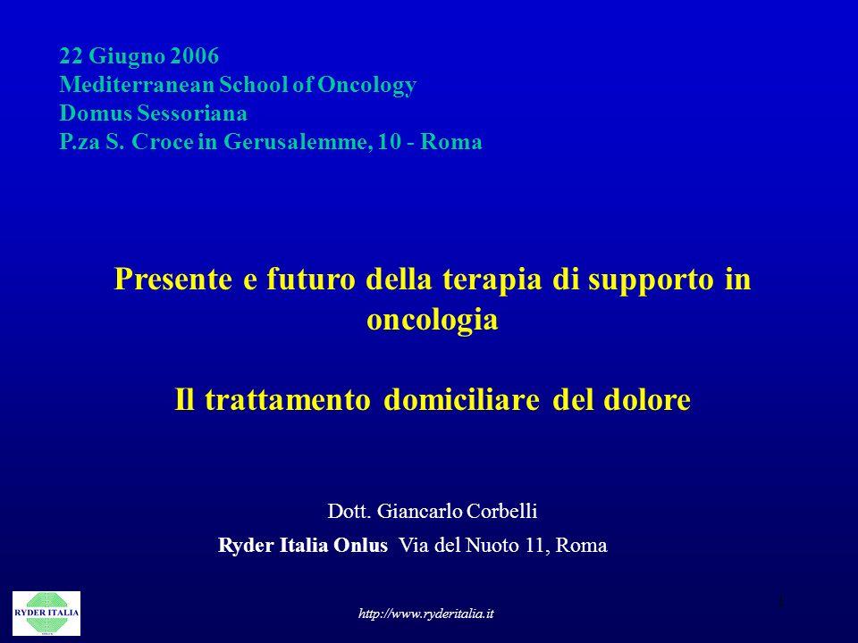 Presente e futuro della terapia di supporto in oncologia