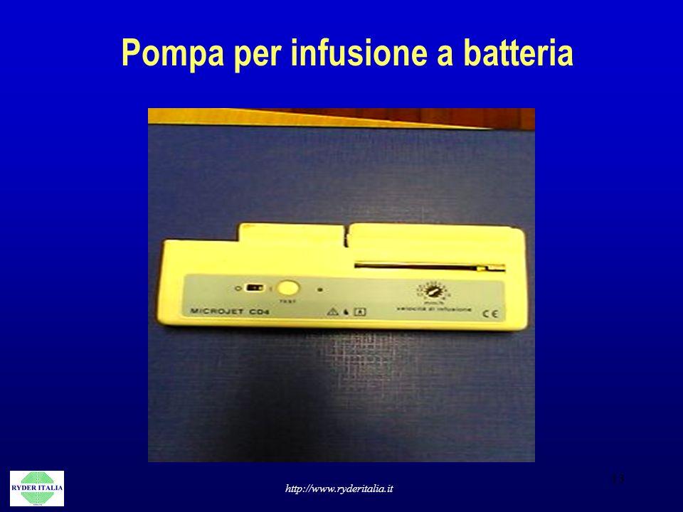 Pompa per infusione a batteria