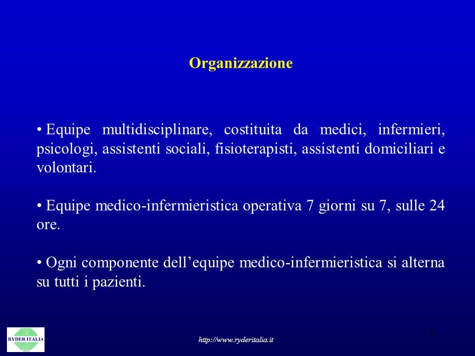 Equipe medico-infermieristica operativa 7 giorni su 7, sulle 24 ore.