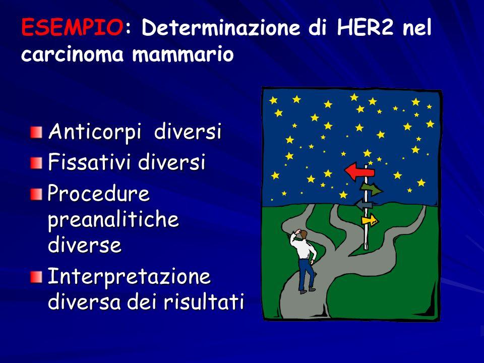 ESEMPIO: Determinazione di HER2 nel carcinoma mammario