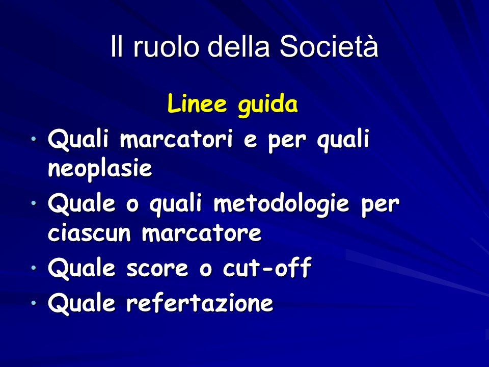 Il ruolo della Società Linee guida