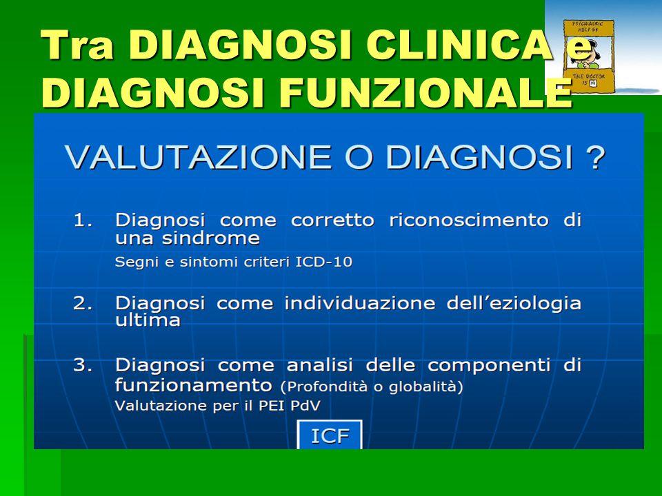 Tra DIAGNOSI CLINICA e DIAGNOSI FUNZIONALE