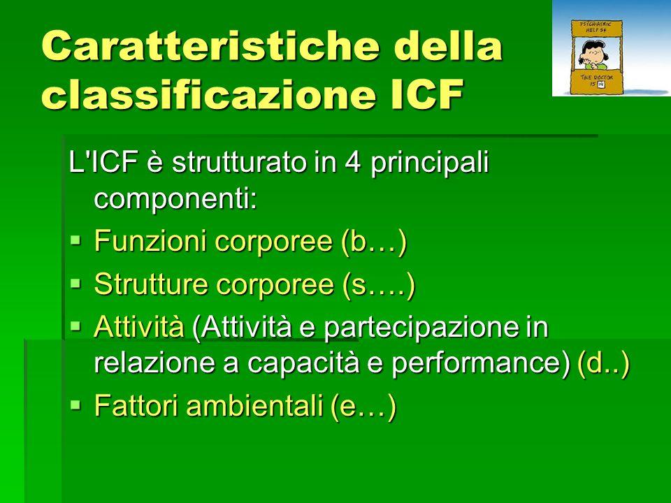 Caratteristiche della classificazione ICF