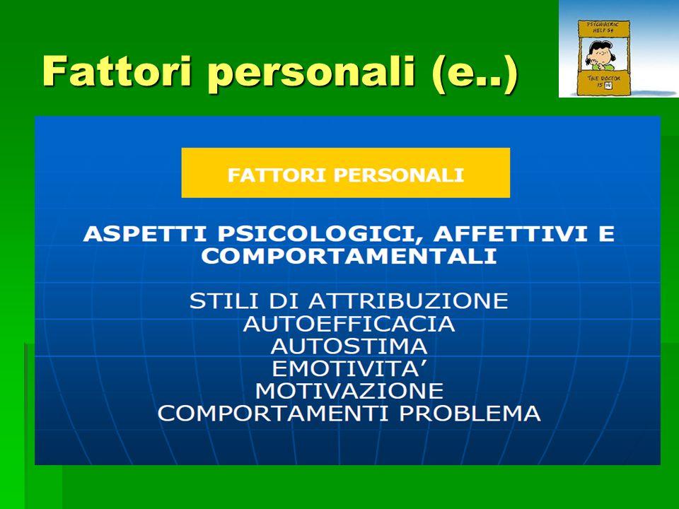 Fattori personali (e..)
