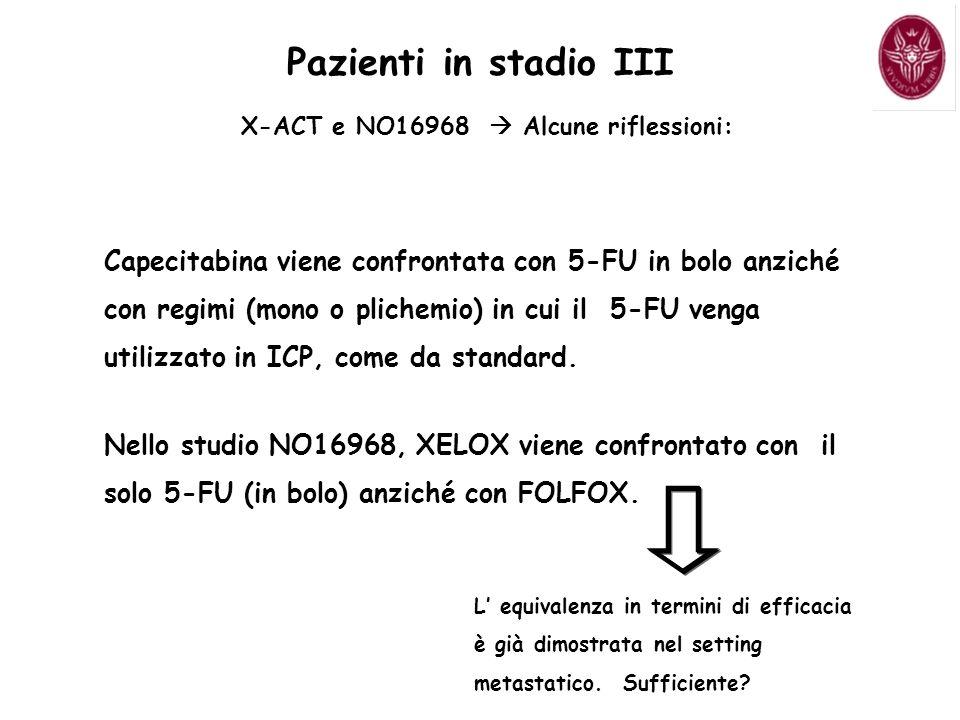 X-ACT e NO16968  Alcune riflessioni: