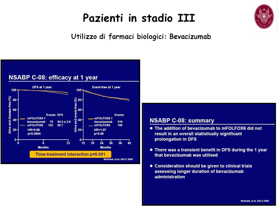 Utilizzo di farmaci biologici: Bevacizumab