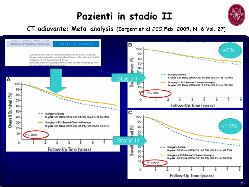 Pazienti in stadio II CT adiuvante: Meta-analysis (Sargent et al JCO Feb. 2009, N. 6 Vol. 27)