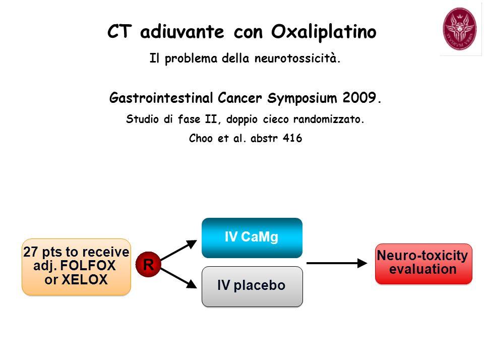CT adiuvante con Oxaliplatino