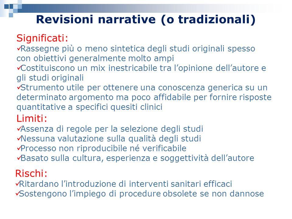 Revisioni narrative (o tradizionali)