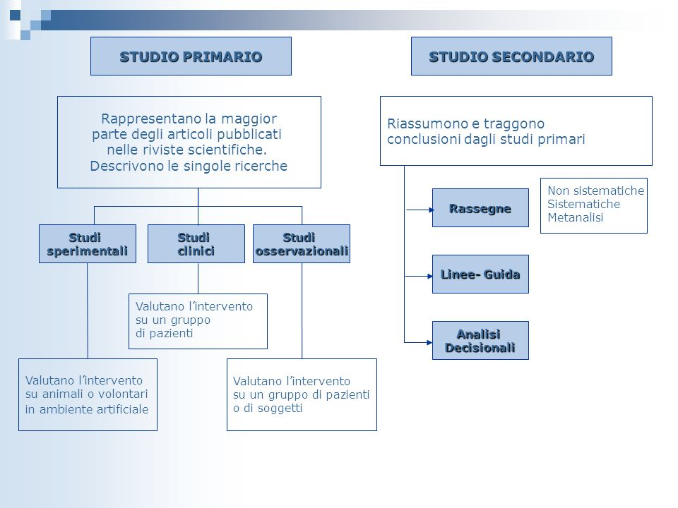 STUDIO PRIMARIO STUDIO SECONDARIO