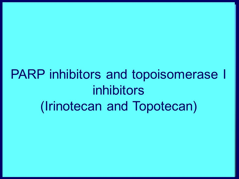 PARP inhibitors and topoisomerase I inhibitors