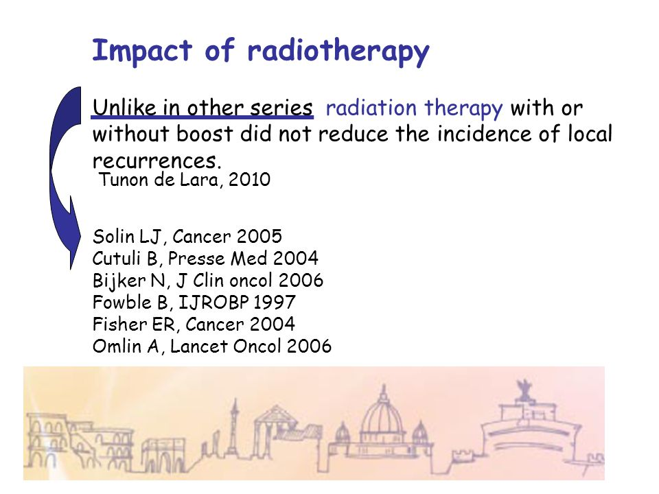 Impact of radiotherapy