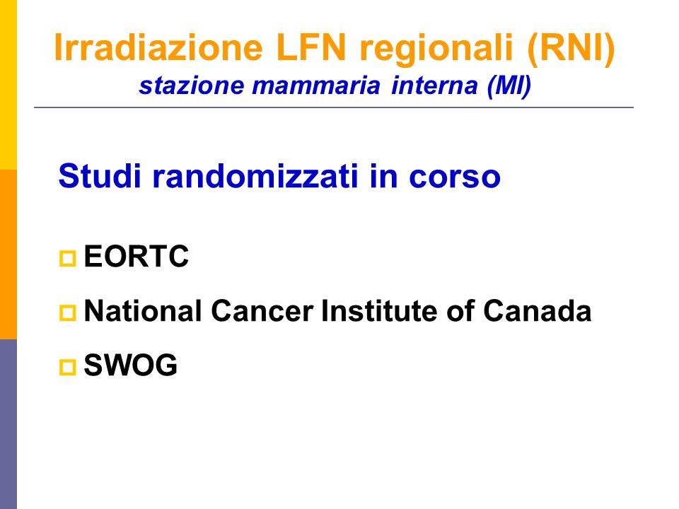 Irradiazione LFN regionali (RNI) stazione mammaria interna (MI)