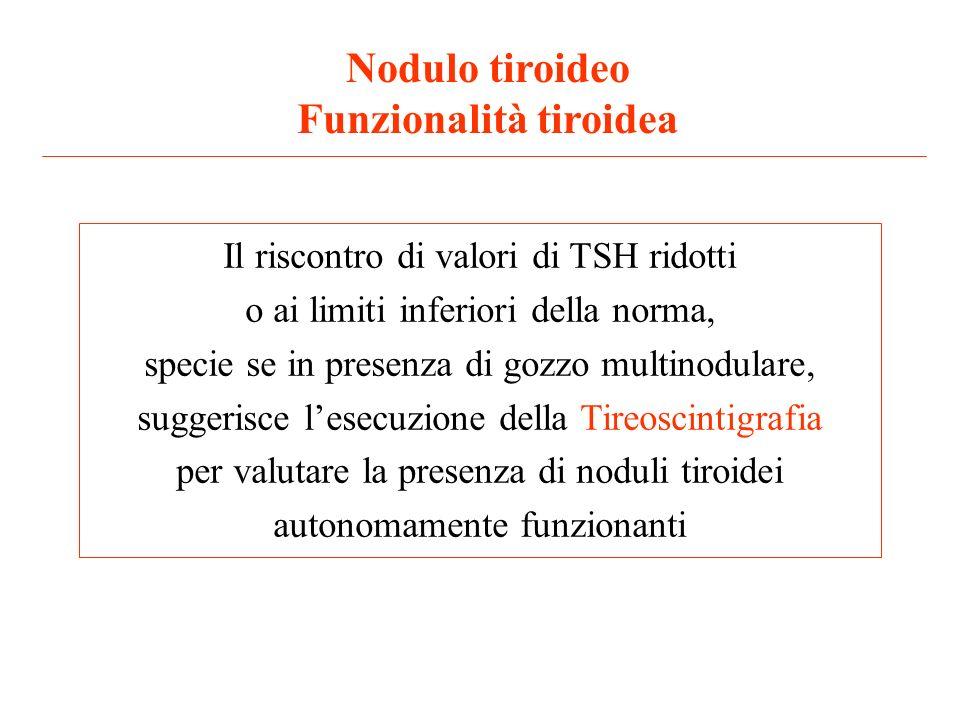 Nodulo tiroideo Funzionalità tiroidea