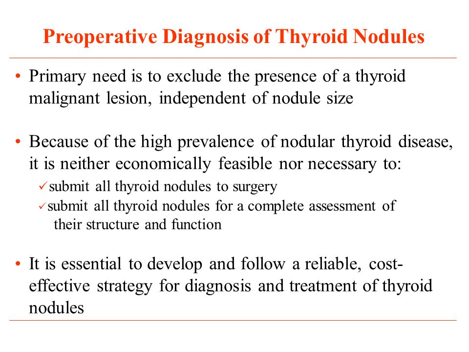 Preoperative Diagnosis of Thyroid Nodules