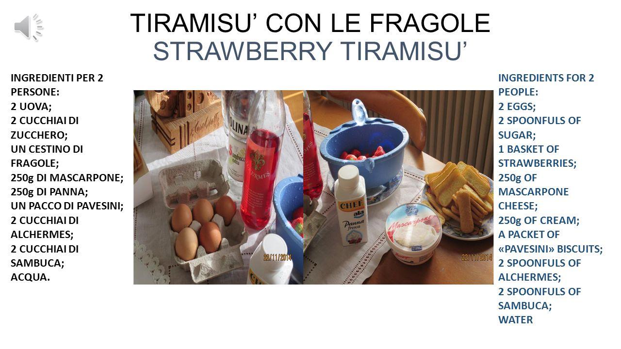TIRAMISU' CON LE FRAGOLE