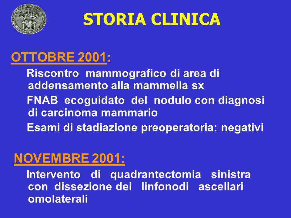 STORIA CLINICA OTTOBRE 2001: