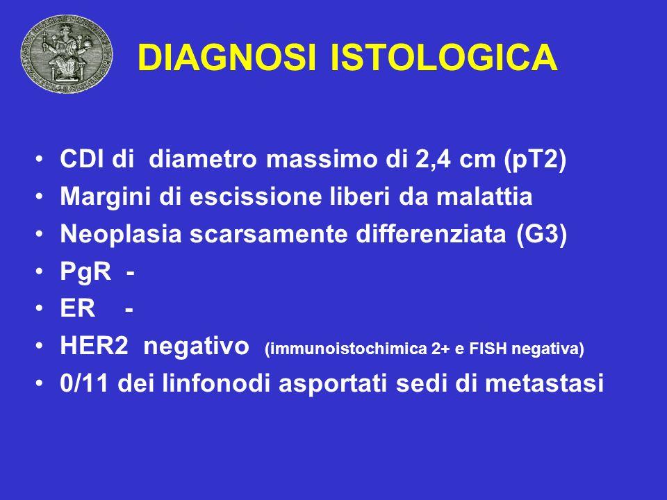 DIAGNOSI ISTOLOGICA CDI di diametro massimo di 2,4 cm (pT2)