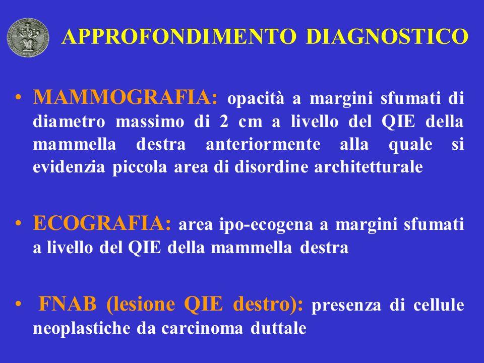 APPROFONDIMENTO DIAGNOSTICO