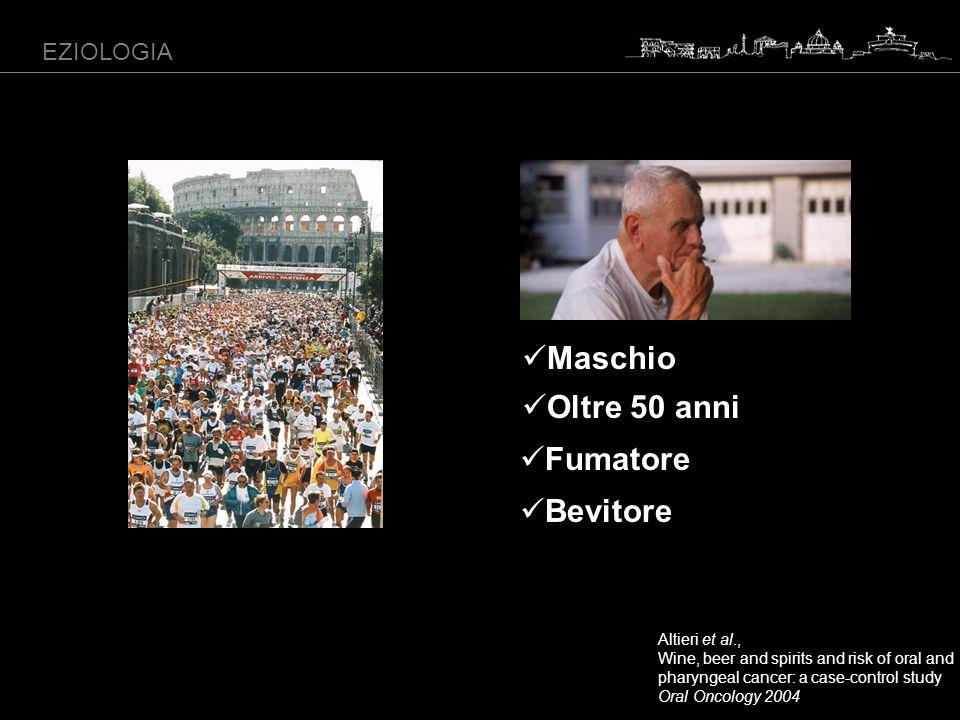 Maschio Oltre 50 anni Fumatore Bevitore EZIOLOGIA Altieri et al.,