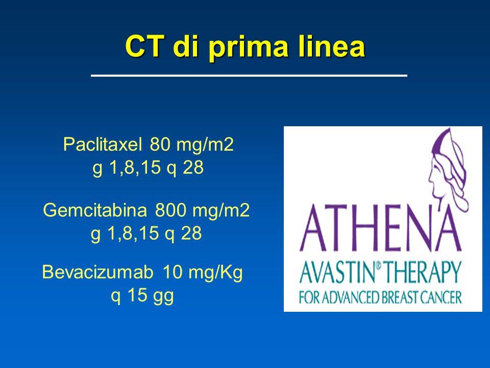 CT di prima linea Paclitaxel 80 mg/m2 g 1,8,15 q 28