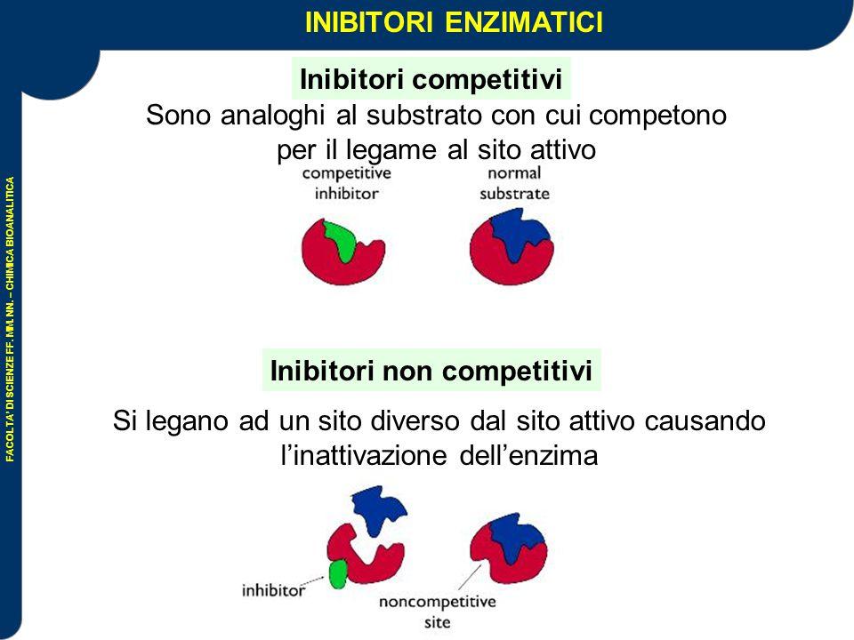 Inibitori competitivi Inibitori non competitivi