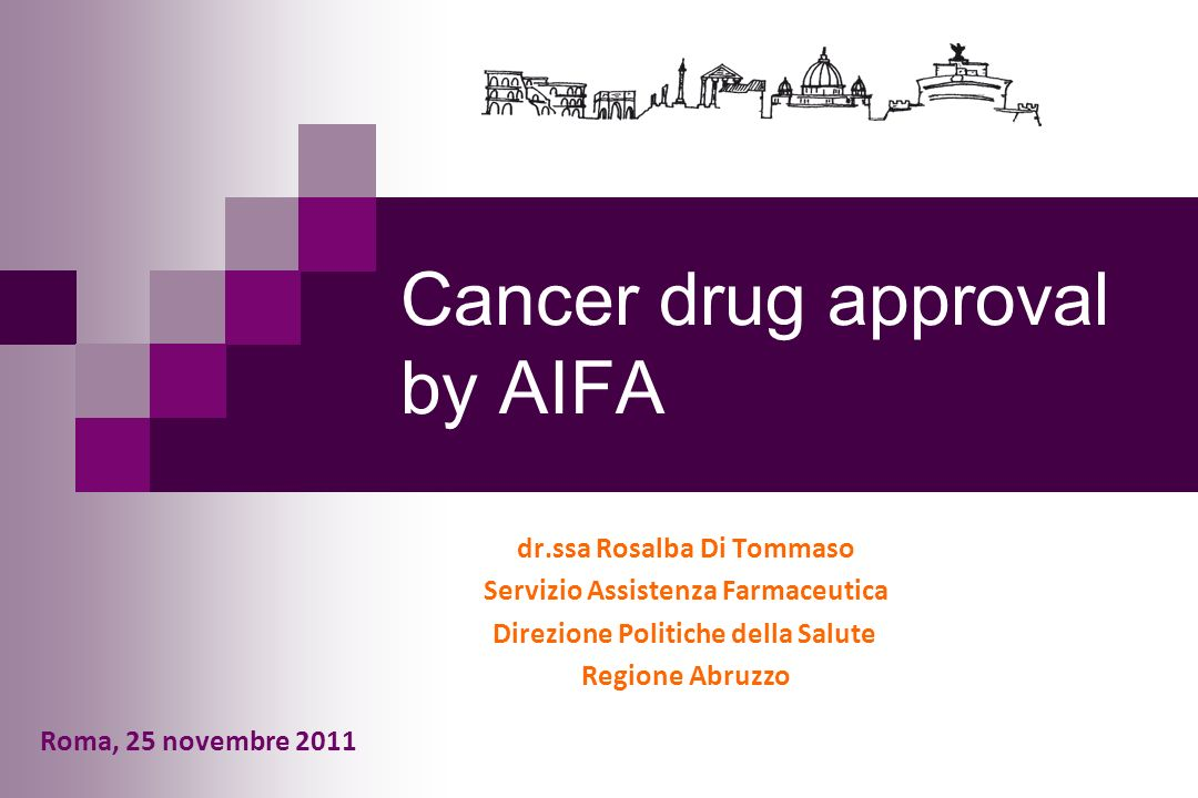 Cancer drug approval by AIFA
