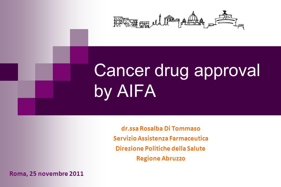 Cancer drug approval by AIFA
