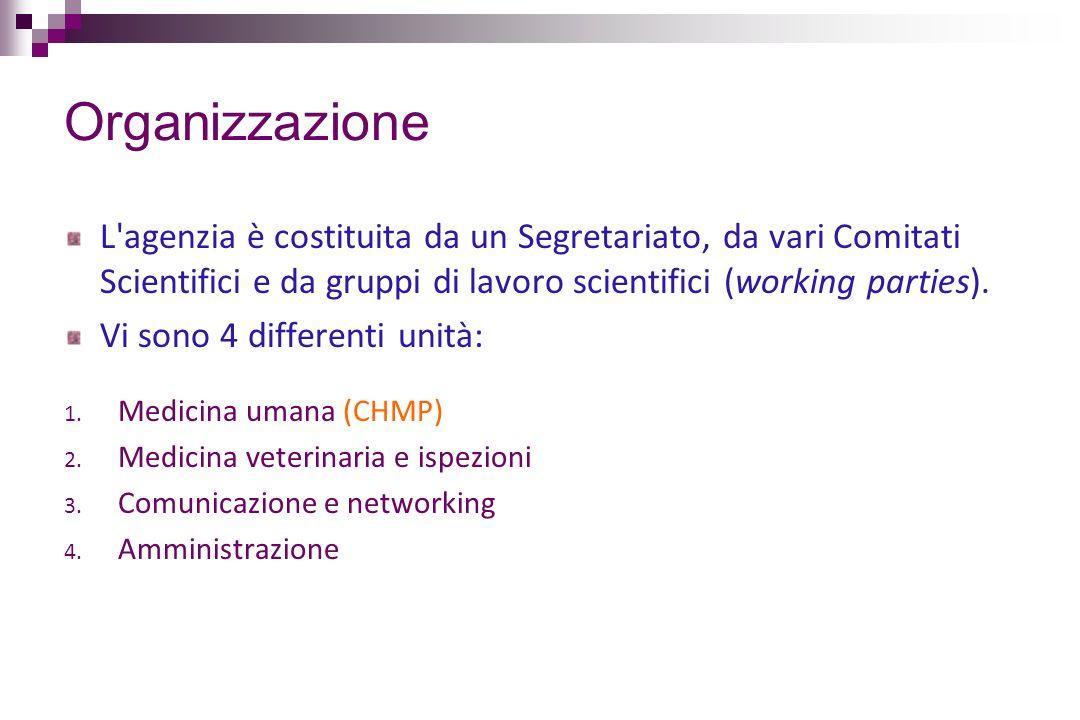 Organizzazione L agenzia è costituita da un Segretariato, da vari Comitati Scientifici e da gruppi di lavoro scientifici (working parties).