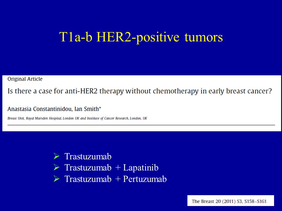 T1a-b HER2-positive tumors