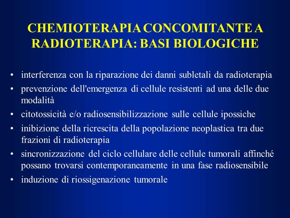 CHEMIOTERAPIA CONCOMITANTE A RADIOTERAPIA: BASI BIOLOGICHE