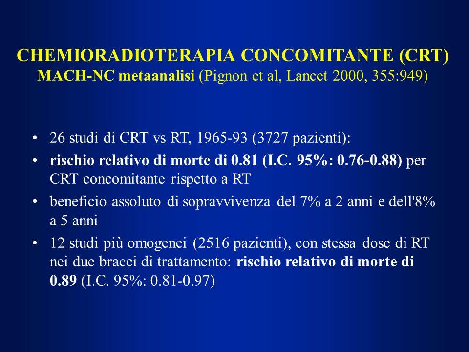 CHEMIORADIOTERAPIA CONCOMITANTE (CRT)