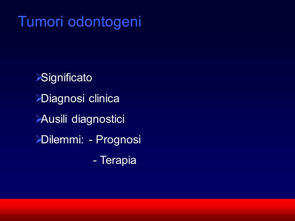 Tumori odontogeni Significato Diagnosi clinica Ausili diagnostici