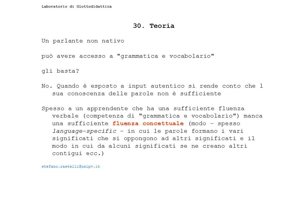 30. Teoria Un parlante non nativo