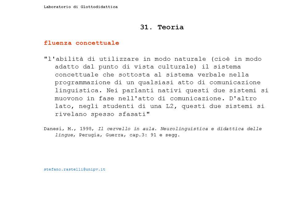 31. Teoria fluenza concettuale